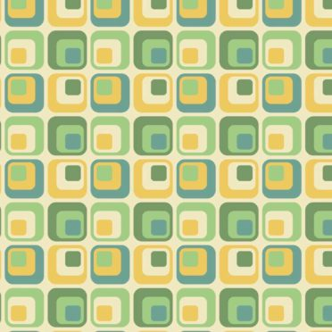 Pattern square green yellow iPhone6s / iPhone6 Wallpaper