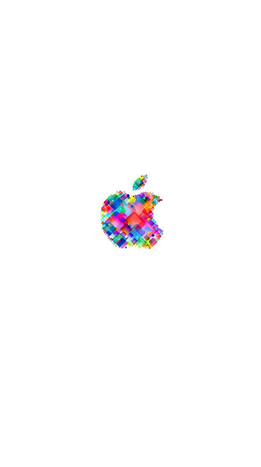 apple logo pop colorful white wallpapersc iphone6s