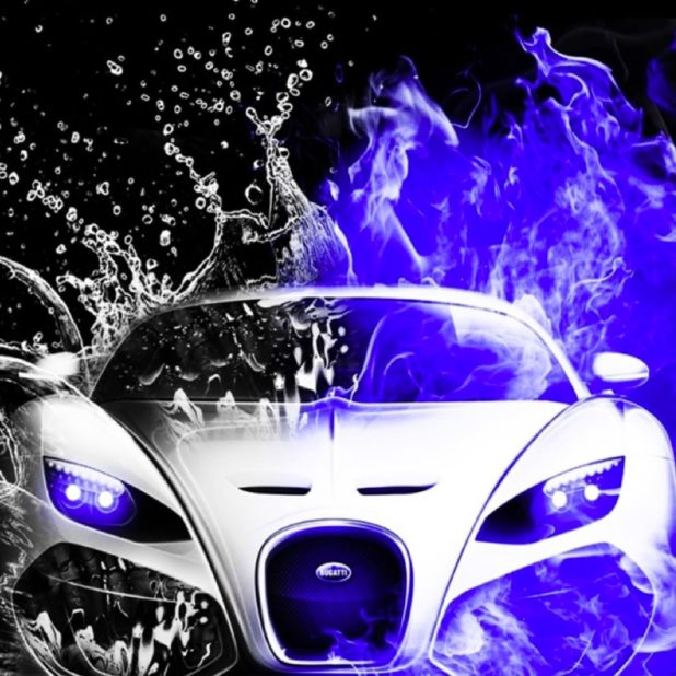 Cool Cars blue water black-and-white iPhone6s Plus / iPhone6 Plus Wallpaper