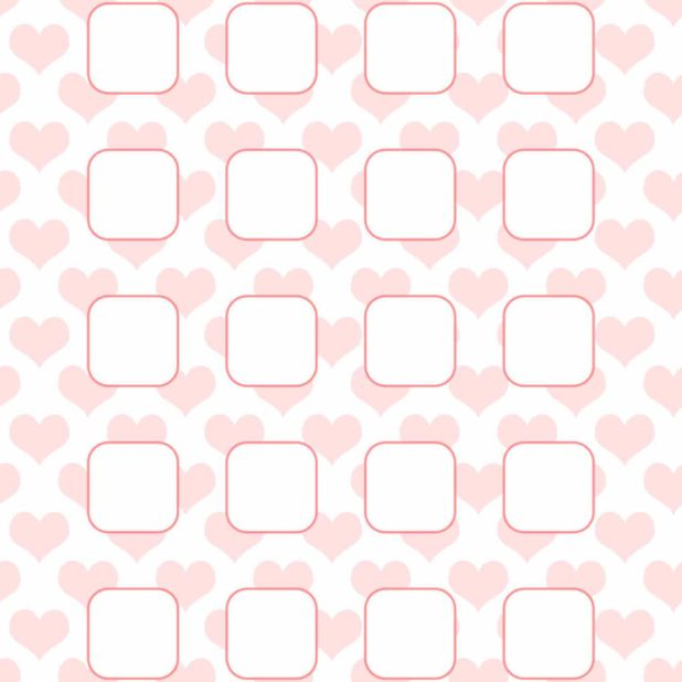 Heart pattern for girls  pink  shelf iPhone6s Plus / iPhone6 Plus Wallpaper