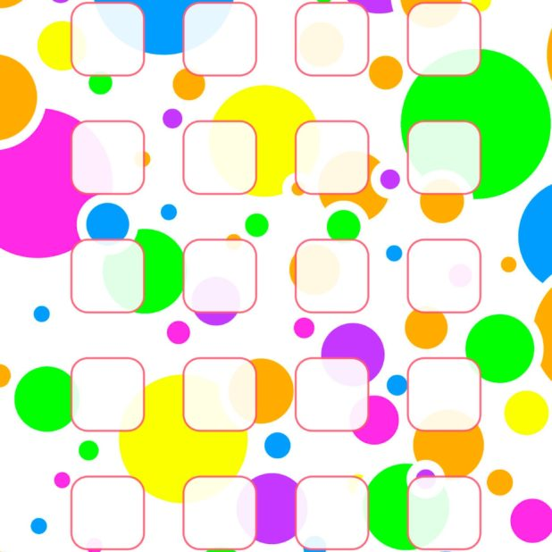 Colorful polka dot pattern shelf for women iPhone6s Plus / iPhone6 Plus Wallpaper