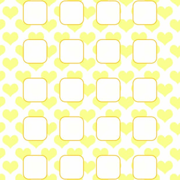 Heart pattern yellow shelf for women iPhone6s Plus / iPhone6 Plus Wallpaper