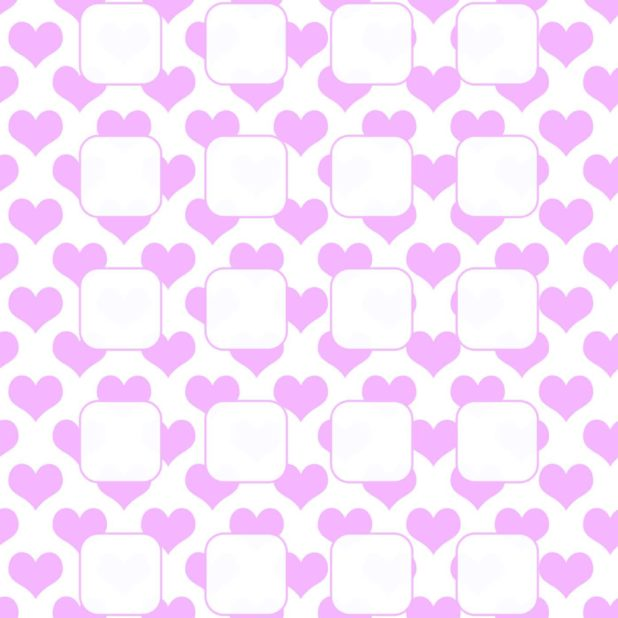 Heart pattern for women purple white iPhone6s Plus / iPhone6 Plus Wallpaper
