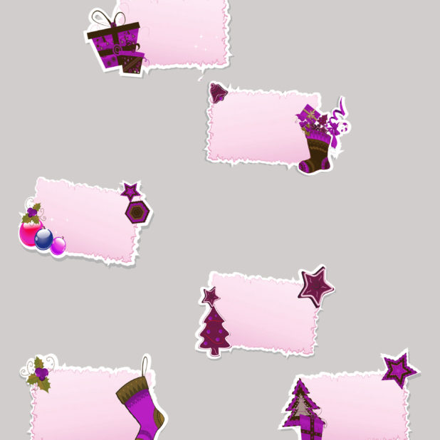 Christmas ash purple gift iPhone6s Plus / iPhone6 Plus Wallpaper
