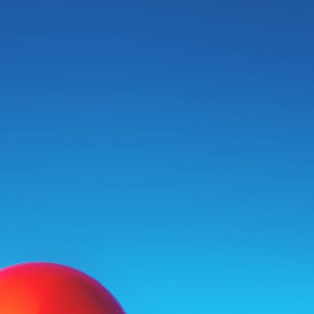 Landscape blue sky red balloons iPhone6s Plus / iPhone6 Plus Wallpaper