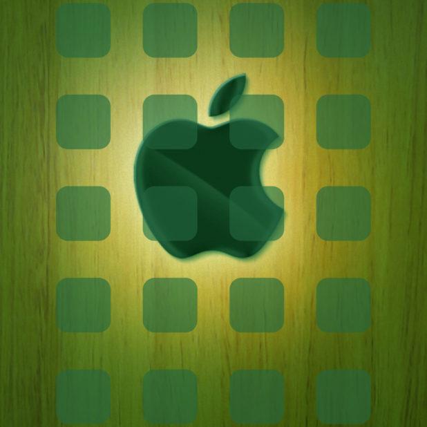 Apple Logo Shelf Cool Plate Brown Wallpapersc Iphone6splus