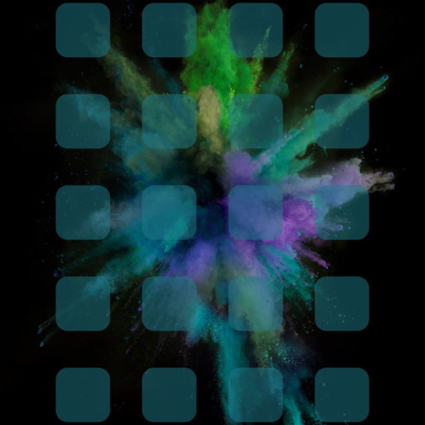Explosion blue green shelf cool iPhone6s Plus / iPhone6 Plus Wallpaper