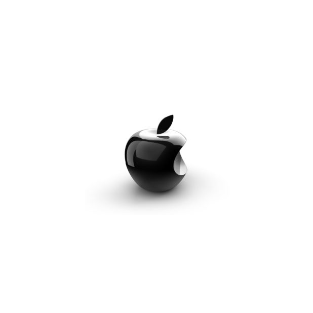 Apple logo 3D black-and-white iPhone6s Plus / iPhone6 Plus Wallpaper
