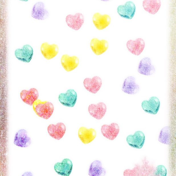 Heart colorful iPhone7 Plus Wallpaper