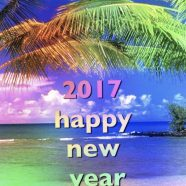 Tropical New Year iPhone8 Wallpaper