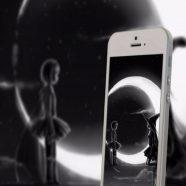 smartphone moon iPhone8 Wallpaper