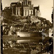 Mont Saint Michel Sepia iPhone8 Wallpaper