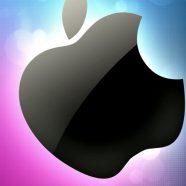 Apple  purple  blue iPhone8 Wallpaper
