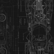 Cool blueprint black iPhone8 Wallpaper
