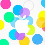 apple logo colorful iPhone8 Wallpaper