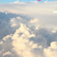 Sky clouds airplane iPhone8 Wallpaper