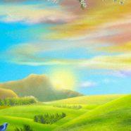 Illustrations natural  green  flower iPhone8 Wallpaper