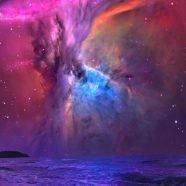 Cool purple sea iPhone8 Wallpaper