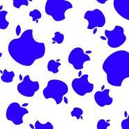 Apple logo blue iPhone8 Wallpaper