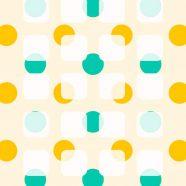 Shelf cute polka dot  green  orange iPhone8 Wallpaper