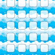 Illustration blue water wave pattern shelf for women iPhone8 Wallpaper