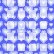 Heart pattern blue shelf for women iPhone8 Wallpaper