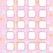 Pattern peach colorful shelves for girls iPhone8 Wallpaper
