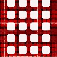 Red and black check pattern shelf iPhone8 Wallpaper