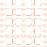 Heart pattern for girls  orange  shelf iPhone8 Wallpaper