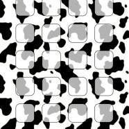 Black-and-white cow pattern shelf iPhone8 Wallpaper