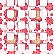 Pattern illustrations  flower  red  shelf iPhone8 Wallpaper