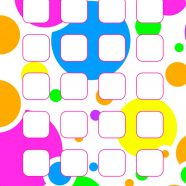Pattern round colorful shelves for girls iPhone8 Wallpaper