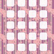 Pattern flower illustrations  purple  shelf iPhone8 Wallpaper