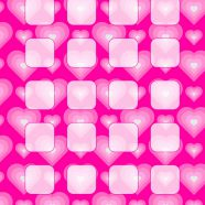 Heart pattern peach girls and woman for shelf iPhone8 Wallpaper