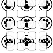 Black-and-white illustrations pattern paws shelf iPhone8 Wallpaper