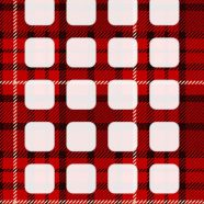 Check pattern  red  shelf iPhone8 Wallpaper