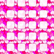 Heart pattern peach red purple shelf for women iPhone8 Wallpaper