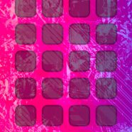 Shelf cool pattern red purple iPhone8 Wallpaper