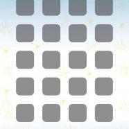 Shelf sparkling blue star iPhone8 Wallpaper