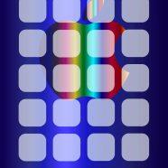 Shelf apple cool blue silver iPhone8 Wallpaper