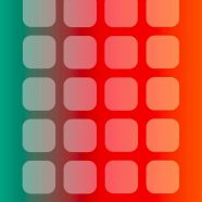 Shelf red green orange iPhone8 Wallpaper