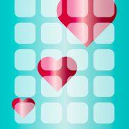 Shelf Heart blue for girls iPhone8 Wallpaper