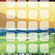 Landscape sunset mountain sea shelf iPhone8 Wallpaper