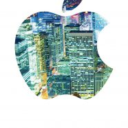 Apple logo Cool Street iPhone8 Wallpaper
