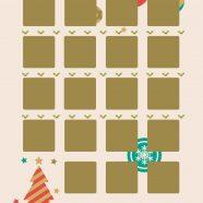 Shelf Christmas gold peach iPhone8 Wallpaper