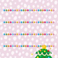 Shelf Christmas tree colorful purple iPhone8 Wallpaper