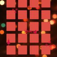 Shelf Christmas red light iPhone8 Wallpaper