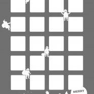 Shelf silver Christmas Santa iPhone8 Wallpaper