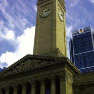 Building sky clouds clock tower iPhone8 Wallpaper