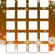 Shelf orange winter snow cute girls and woman for iPhone8 Wallpaper